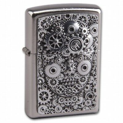 ZIPPO The Steampunk Gear Head emblem collectible lighter