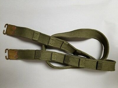 British Enfield Sniper Rifle Sling With Brass Tips.