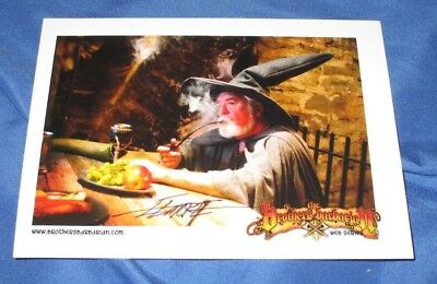 LARRY ELMORE Signed Promo Postcard/Card (Lord of the Rings/Gandalf/Webseries)
