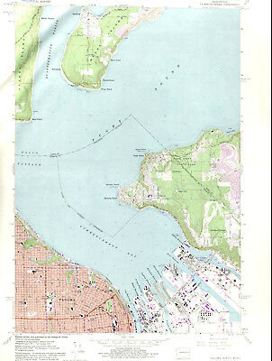 TACOMA NORTH, WASHINGTON > 1961/81 USGS Topographic Map Original 7.5 ...