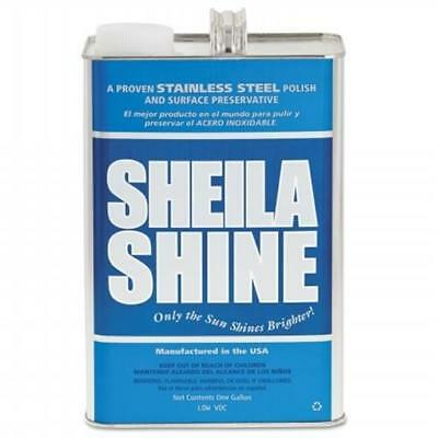 Sheila Shine SSISSCA128 1 gal Stainless Steel Cleaner & Polish Can 4 Per Carton