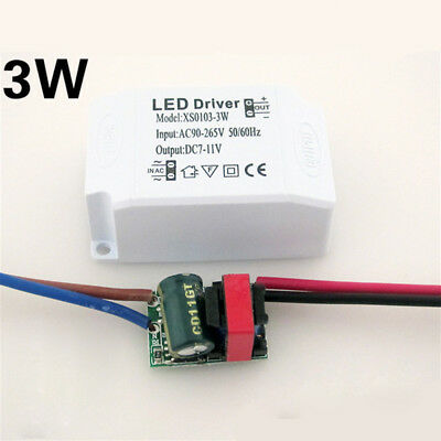 1XLED Lights AC90~265V 3~24W LED Driver Power Supply Adapter Transformer Use UK