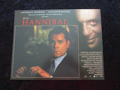 HANNIBAL lobby card # 10 ANTHONY HOPKINS, JULIANNE MOORE, SILENCE OF THE LAMBS