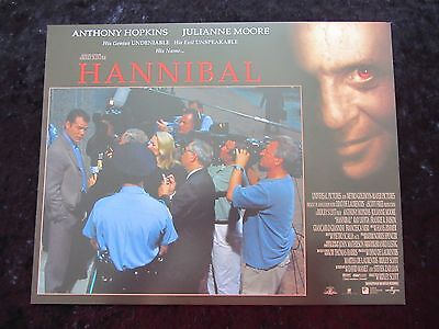 HANNIBAL lobby card # 6 ANTHONY HOPKINS, JULIANNE MOORE, SILENCE OF THE LAMBS