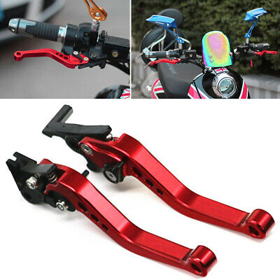2pcs Red Universal CNC Motorcycle Drum Disc Hydraulic Line Brake Clutch Lever