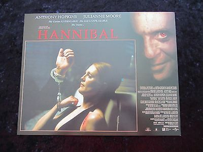 HANNIBAL lobby card # 7 ANTHONY HOPKINS, JULIANNE MOORE, SILENCE OF THE LAMBS