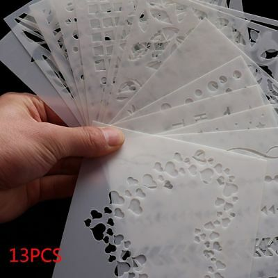 13PCS Layering Stencils for Scrapbooking Stamp Photo Album Wall Painting Decor