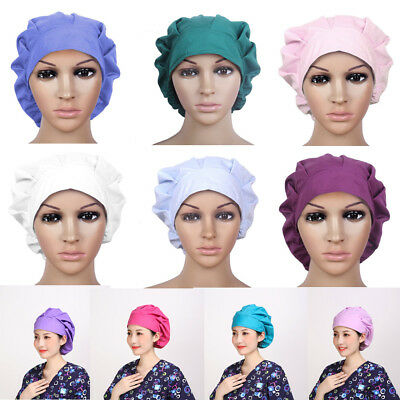 Doctor/Nurse 10 Colors Scrub Surgery Medical Surgical Hat/Cap Bouffant Solid