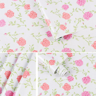 """Self-adhesive Floral Wallpaper Removable Contact Paper Wall Sticker Cover 394"""""""