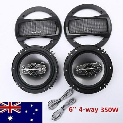 2PCS 350W Coaxial Car Audio Speakers 6 Inch 4 Way Stereo Coax Subwoofer AU