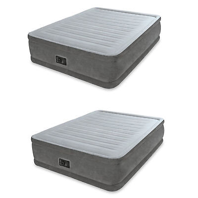 Intex Queen Comfort Plush Elevated Mattress Airbed with Built-In Pump (2 Pack)