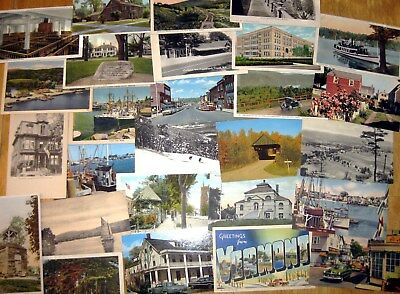 Lot of 30 Unused Vintage postcards, Random cards from 1910 to '80s, Postcrossing