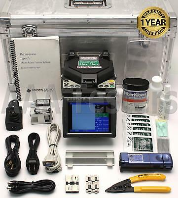 Sumitomo Type-65 SM MM Ribbon Fiber Fusion Splicer w/ Cleaver Type-65M12 Type 65