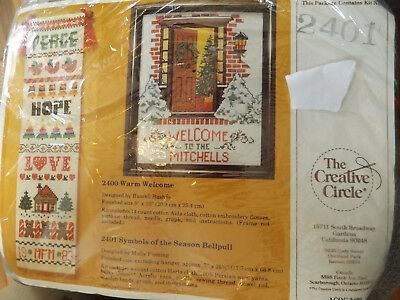 Symbols of the Season Bell Pull Counted Cross Stitch Kit by Creative Circle 2401