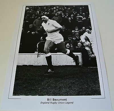 Bill Beaumont Signed 16x12 large Photo Autograph display England Rugby PROOF COA