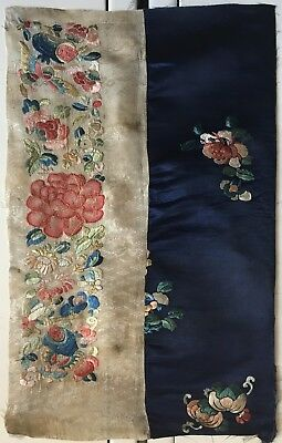 Beautiful 19th Century Chinese Silk Embroidery  (2444)