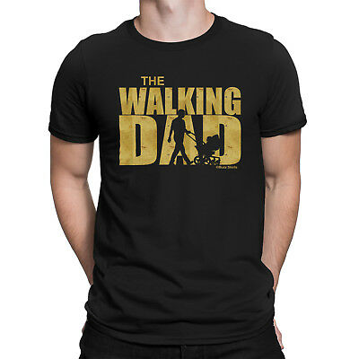 The WALKING DAD Mens Funny T-Shirt Novelty Dead Parody Inspired Fathers Day Gift