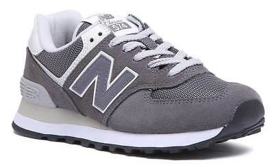 best service c7248 14361 NEW BALANCE 574 WL574CRD Womens Grey Suede Leather Trainers UK Size 3 - 8