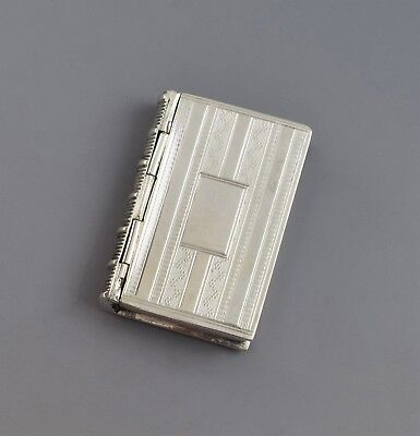 Early Victorian Silver Novelty Book Vinaigrette Edward Smith 1847