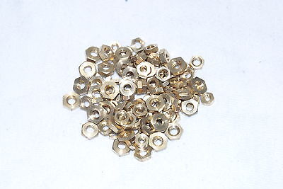 Brass Nut Assortment 100 Piece Assortment New Clock Parts