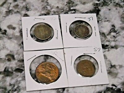 Lot of Mexican Coins Diez 10 cent 5 cent World 1965 1957 1942 1937