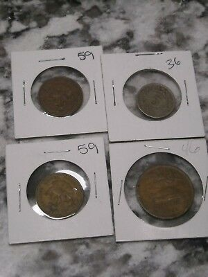 Lot of Mexican Coins 1959 Diez 1936 5 cent 1946 20 cent
