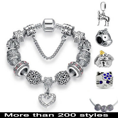 Bracelet Silver Charms Fit European 925 Beads Fashion Cute Jewelry Lots Chain