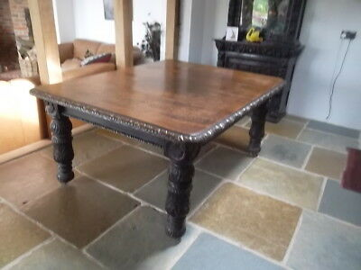 Victorian Carved Oak Dining Table