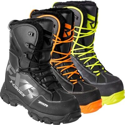 FXR Men's X Cross Lace Up 600g Boots - White Black Orange Hi-Vis 180705-10__-__