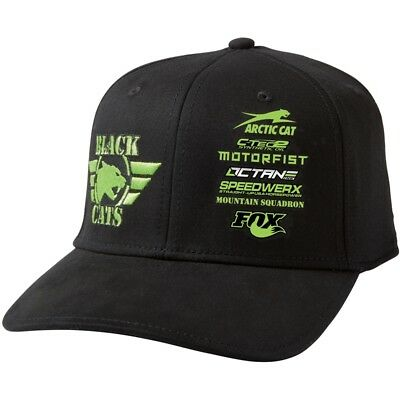 Arctic Cat Black Cats Sponsor Snapback Closure Wide Brim Cap - Black - 5293-712