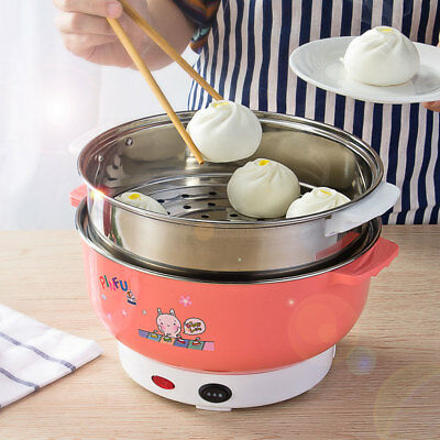 Stainless Steel Electric Lunch Box Steamer Pot Heating Rice Cooker