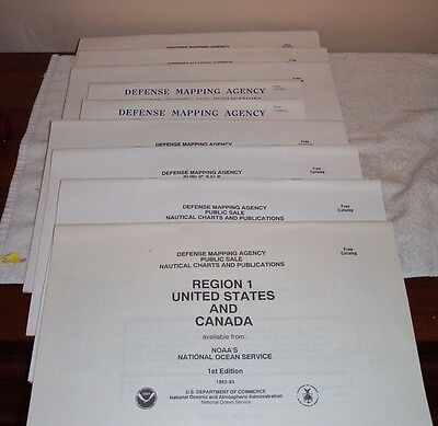 Defense Mapping Agency Public Sales Catalogs Nautical Charts Regions 1-9