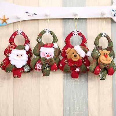 Christmas Tree Ornaments Cloth Hanging Decoration New Year Party Small Pendant