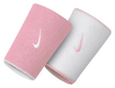 Nike Tennis Doublewide Home & Away Wristbands Nnn03-617 Pink/white Nadal Federer