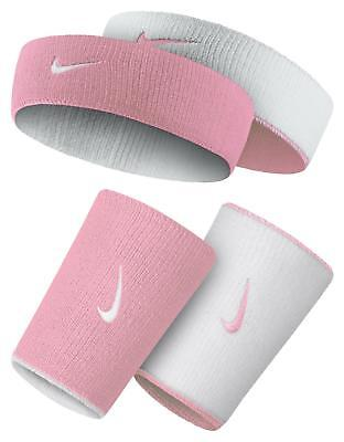 Nike Tennis Home & Away Doublewide Wristbands& Headband Pink/white Nadal Federer