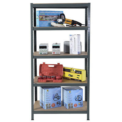 Garage Shelving Racking Heavy Duty Steel Boltless Warehouse Unit 5 Tier