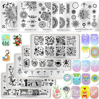 Born Pretty Nail Art Stamping Plates Halloween Christmas Theme Manicure Template