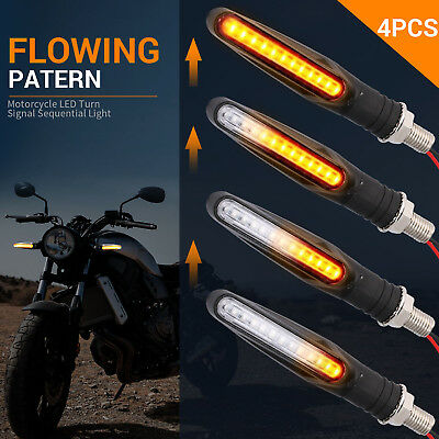 Motors Other Motorcycle Lighting & Indicators 2× Motorcycle LED Turn Signal Lamp Sequential Flowing Indicator Light Indicators