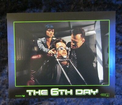THE 6th DAY lobby cards ARNOLD SCHWARZENEGGER mini set of 8
