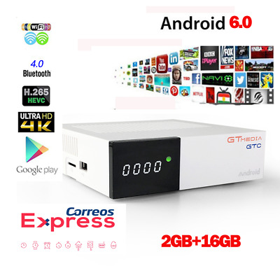 Freesat GTC Android 6.0 4K TV BOX DVB-S2/T2/Cable/ISDBT 2+16G Satellite Receiver