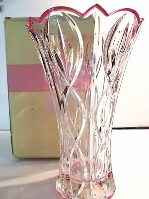 "Lenox GIFT OF KNOWLEDGE Lead Crystal Vase 9.5"" NEW IN BOX"