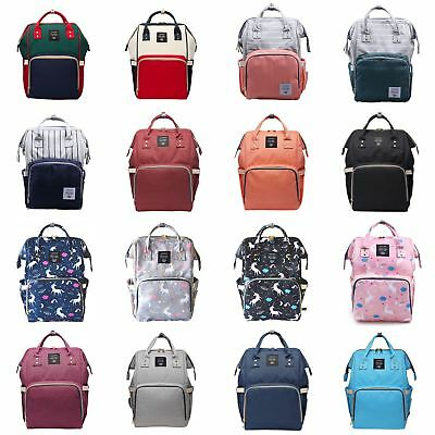 US Mummy Maternity Baby Diaper Nappy Backpack Large Capacity Bag Multifunctional