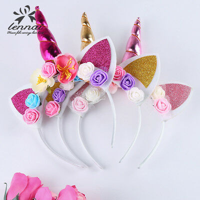 US Kids Girl Baby Unicorn Horn Headband Hair Band Accessories Headwear Head Wrap