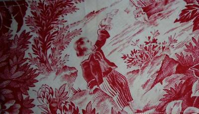 NEW AUTUMN STOCK,  MID 19th CENTURY FRAGMENT FRENCH TOILE DE JOUY 19.