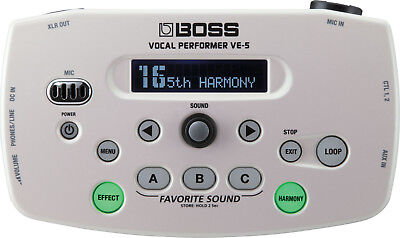Boss VE-5 Vocal Performer Effect Processor (White)