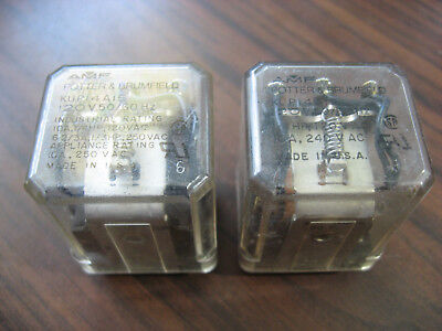 2 Potter & Brumfield KUP14A15-120 Cube Relays (11 Pin Square, 120 VAC Coil)