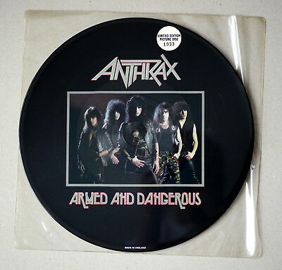 ANTHRAX - Limited Edition Picture Disc - Armed and Dangerous - UK 1985