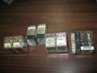 Lot of 8 Omron MY4N Cube Relays (14 Pin, 24VDC Coil)