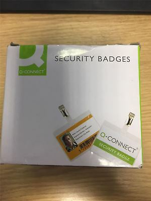 Q-Connect KF01562 Security Badge 60x90mm (Pack of 25)