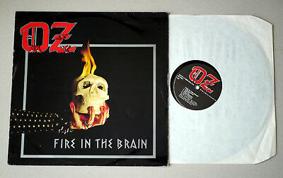 1983 LP - OZ - Fire in the Brain - Made in Sweden - WAVE LP-8006